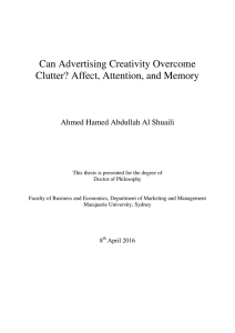 Can Advertising Creativity Overcome Clutter? Affect, Attention, and