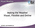 Making the Weather Visual, Flexible and Online