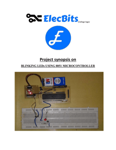 Project synopsis on BLINKING LEDs USING 8051