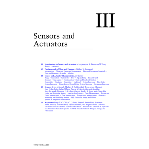 Chapter 16: Introduction to Sensors and Actuators