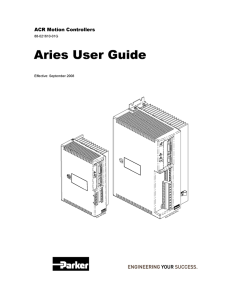 Aries User Guide - Parker Motion Control Systems