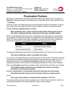 Punctuation Pointers
