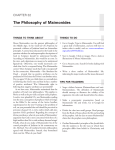 The Philosophy of Maimonides