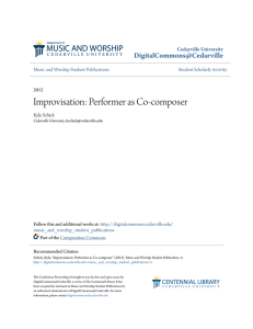 Improvisation: Performer as Co