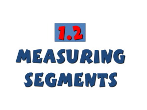 1.2 - Measuring Segments