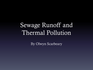 Sewage Runoff and Thermal Pollution
