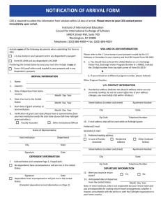 notification of arrival form