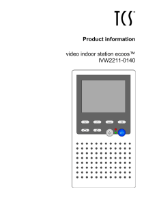 Product information video indoor station ecoos™ IVW2211-0140
