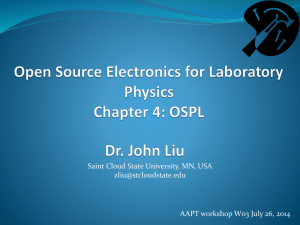 Open Source Electronics for Laboratory Physics Chapter 4: OSPL