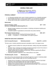 Business Marketing Graduate CV
