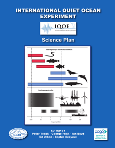 Science Plan - Scientific Committee on Oceanic Research