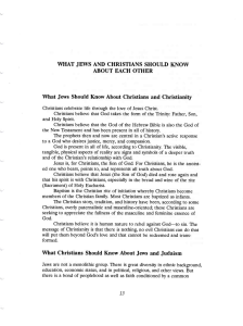 What Jews and Christians Should Know About Each