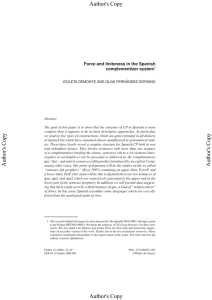 Force and finiteness in the Spanish complementizer system