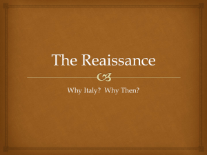 The Reaissance - West and the World History