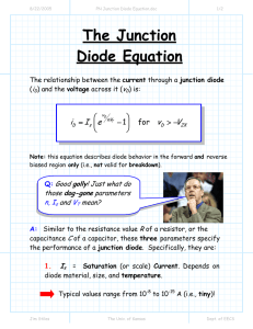 The Junction Diode Equation