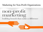 Marketing for Non-Profit Organizations