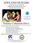 JEWS AND MUSLIMS Toiletry Collection Drive