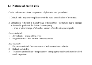 Default risk and spread risk