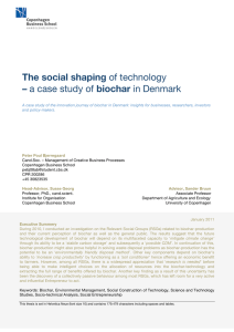 The social shaping of technology – a case study of biochar in Denmark