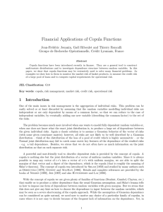 Financial Applications of Copula Functions