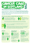 Cancer Care in Scotland - Macmillan Cancer Support