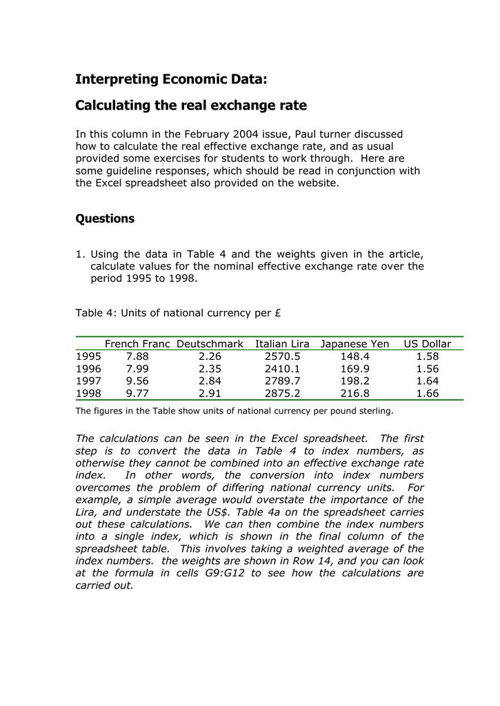 Interpreting Economic Data: