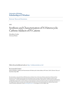 Synthesis and Characterisation of N