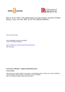 Brown, M. D. (2015). The global history of Latin America. Journal of