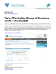 Vishay Web Update: Change of Resistance Due to TCR Calculator