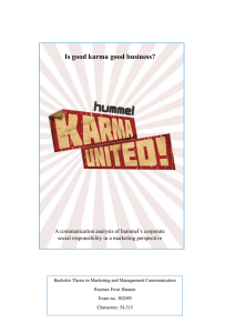 Is good karma good business?