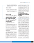 Guidelines for Using the Company Web Site for Regulation FD
