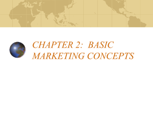 chapter 2: basic marketing concepts i. marketing concepts