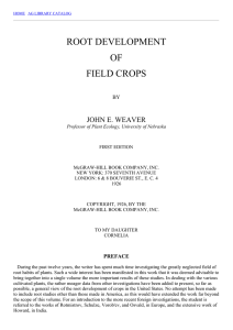 Root Development of Field Crops: Table of