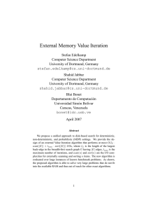 External Memory Value Iteration