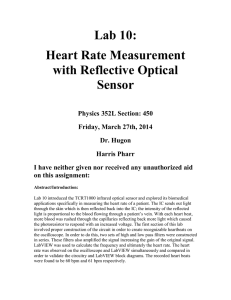 Lab 10: Heart Rate Measurement with Reflective