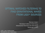 Optimal Matched Filtering to Find Gravitational Waves from LIGO