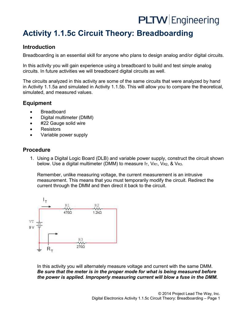 115ac Circuit Theory Breadboarding Basic Logic Gates Digital Circuits Worksheets Ac