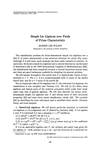 Simple Lie Algebras over Fields of Prime Characteristic