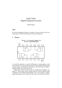 Logic Gates Digital Integrated Circuits
