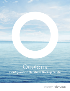 Configuration Database Backup Guide