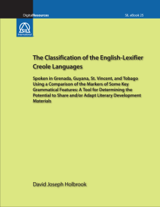 The Classification of the English