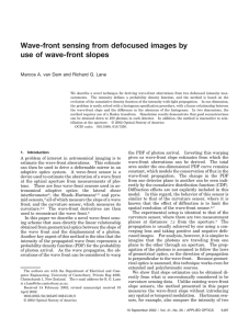 Wave-front sensing from defocused images by use
