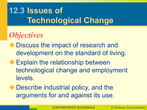 12.3 Issues of Technological Change