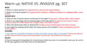 Warm up: NATIVE VS. INVASIVE pg. 307