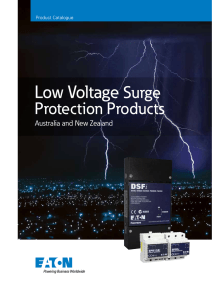 Low Voltage Surge Protection Products