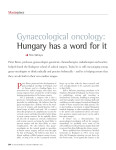 Gynaecological oncology: Hungary has a word for it