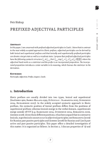 PREFIXED ADJECTIVAL PARTICIPLES