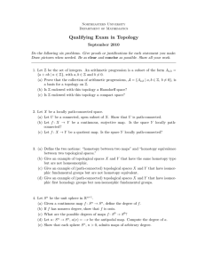 Qualifying Exam in Topology