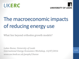 The macroeconomic impacts of reducing energy use