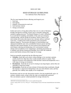Seed Storage Guidelines PDF